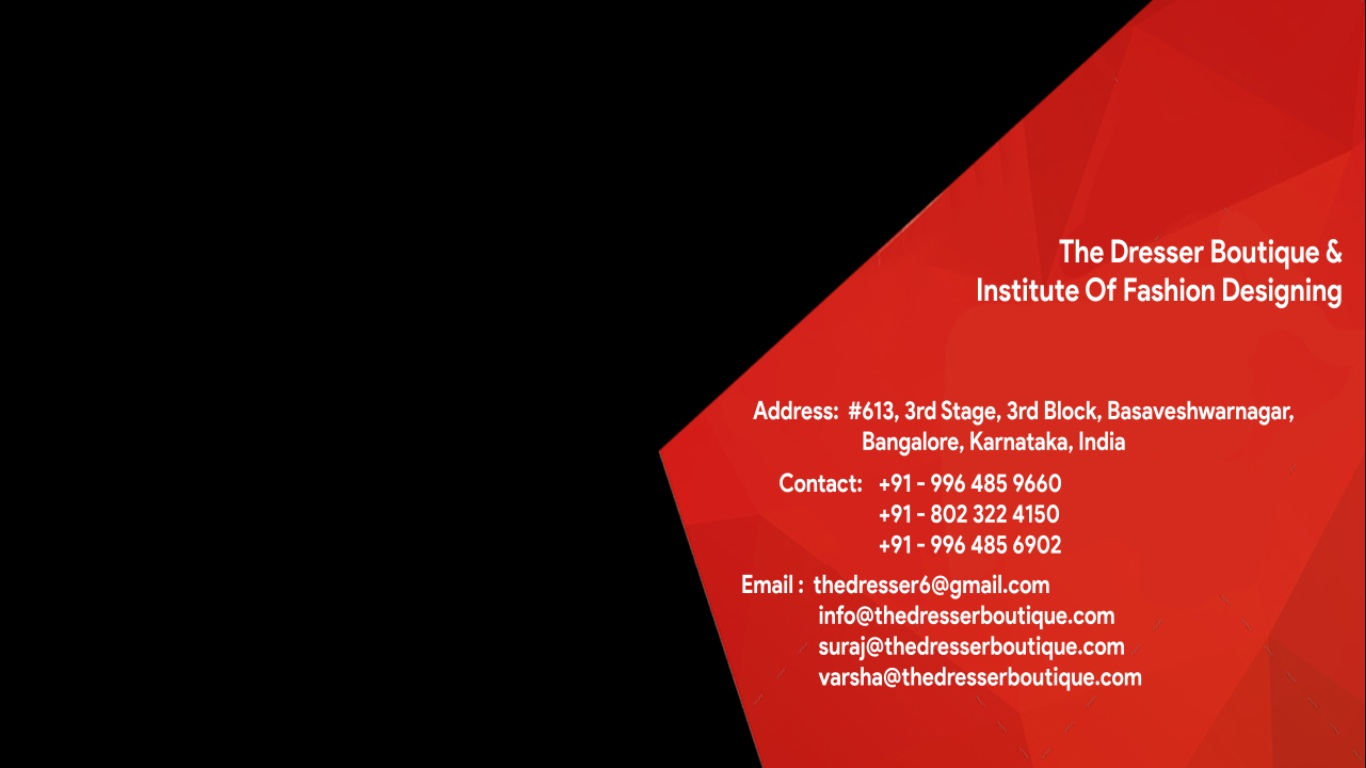 The Dresser Boutique Institute Of Fashion Designing Contact Us
